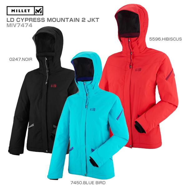 MILLET〔ミレー スキーウェア ジャケット レディース〕<2018>LD CYPRESS MOUNTAIN 2 JKT MIV7474【送料無料】