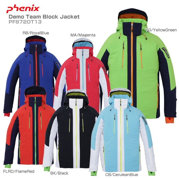 18-19 旧モデル スキー ウエア スノーウェア スキーウェアメンズ レディース PHENIX フェニックス スキーウェア メンズ mens ジャケット <2019>Demo Team Block Jacket PF872OT13 送料無料 【SLTT】【MUJI】〔SA〕