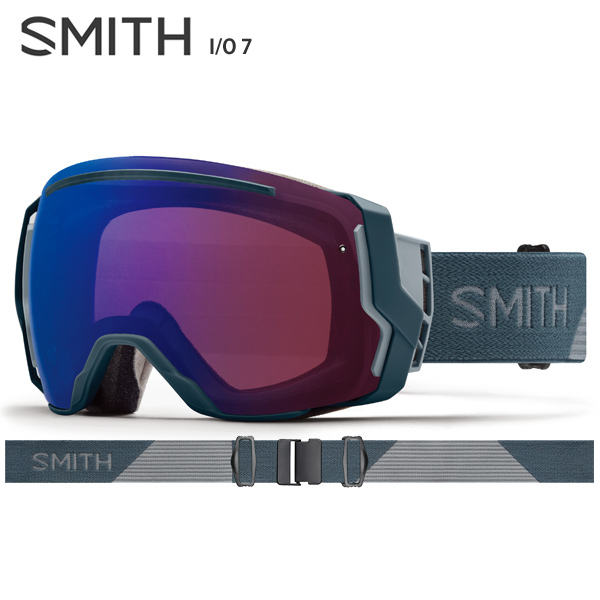 【18-19 NEWモデル】【数量限定モデル】SMITH 〔スミス スキーゴーグル〕<2019>I/O 7〔アイオーセブン〕〔Thunder Split〕【スペアレンズ付】【送料無料】