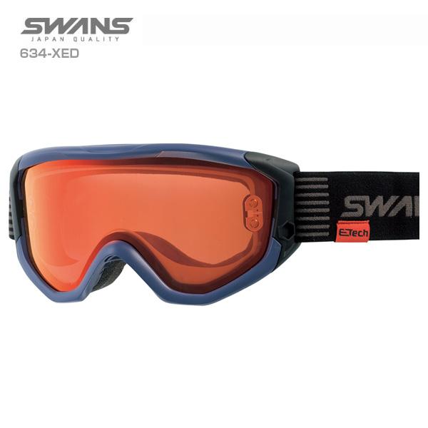 【エントリでP10&初売りセール!】SWANS〔スワンズ スキーゴーグル〕<2020>634-XED〔マットネイビー〕【送料無料】