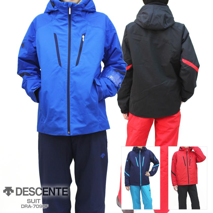 【18-19 NEWモデル】DESCENTE〔デサント スキーウェア メンズ〕<2019>SUIT/DRA-7090F【上下セット 大人用】【送料無料】