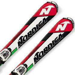 【期間限定!スキー板はさらにポイント5倍!11/14 18時~11/21 13時まで】NORDICA〔ノルディカ ジュニアスキー板〕<2017>TEAM J RACE FASTRAK〔WHITE/GREEN〕 + M 4.5 FASTRAK 【金具付き・取付料無料】〔SA〕