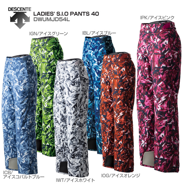 DESCENTE〔デサント スキーウェア レディース パンツ〕<2019>LADIES' S.I.O PANTS 40/DWUMJD54L【技術選着用モデル】【送料無料】【GARA】