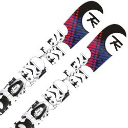 【期間限定!スキー板はさらにポイント5倍!11/14 18時~11/21 13時まで】【18-19 NEWモデル】ROSSIGNOL〔ロシニョール ジュニアスキー板〕<2019>STAR WARS KID-X〔スターウォーズ〕+ KID-X 4 B76 Black White【金具付き・取付送料無料】