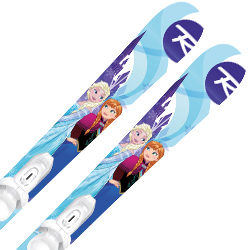 ROSSIGNOL〔ロシニョール ジュニアスキー板〕<2019>FROZEN KID-X JR〔アナと雪の女王〕+ KID-X 4【金具付き・取付無料】