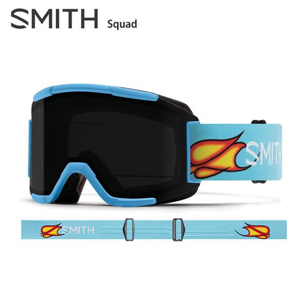【エントリでP10&初売りセール!】SMITH 〔スミス スキーゴーグル〕<2019>Squad〔スカッド〕〔Scott Stevens〕【スペアレンズ付】【ハードケース付】