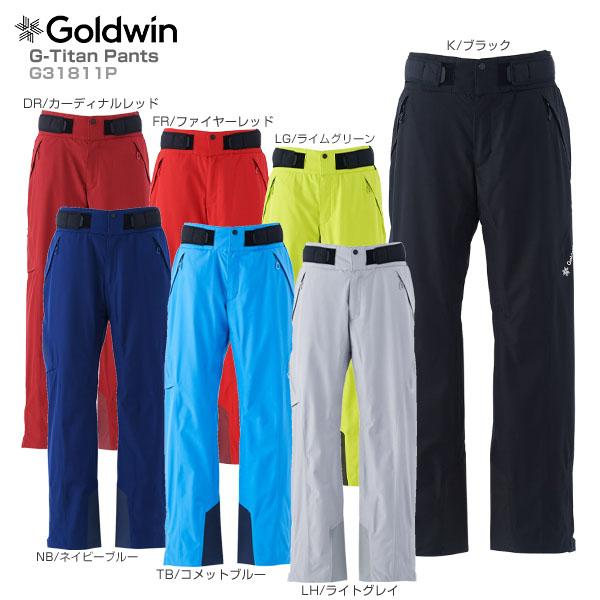 【18-19 NEWモデル】GOLDWIN〔ゴールドウィン スキーウェア パンツ メンズ レディース〕<2019>G-Titan Pants G31811P【GORE-TEX】【送料無料】