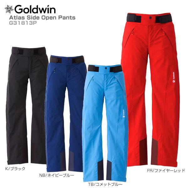 【18-19 NEWモデル】GOLDWIN〔ゴールドウィン スキーウェア パンツ メンズ レディース〕<2019>Atlas Side Open Pants G31813P【送料無料】