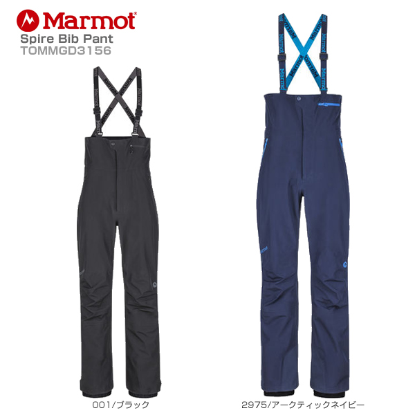 Marmot〔マーモット スキーウェア パンツ〕<2019>Spire Bib Pant TOMMGD3156【GORE-TEX】 送料無料 〔SA〕