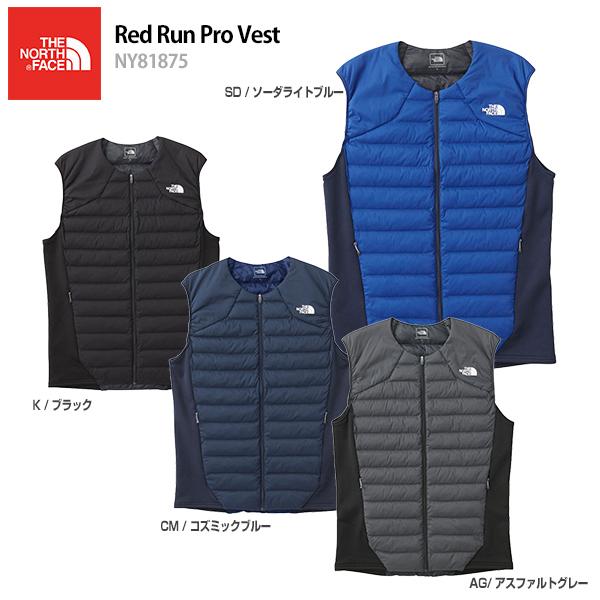 【クーポン配布中】【あす楽】THE NORTH FACE〔ザ・ノースフェイス ミドルレイヤー メンズ〕<2019>Red Run Pro Vest〔レッドランプロベスト〕NY81875