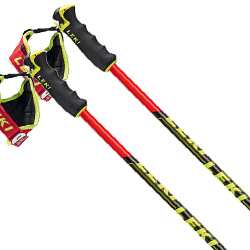 LEKI〔レキ スキー ポール・GSストック〕<2020>VENOM GS 〔ネオンレッド/ブラック〕 【送料無料】 型落ち〔SA〕