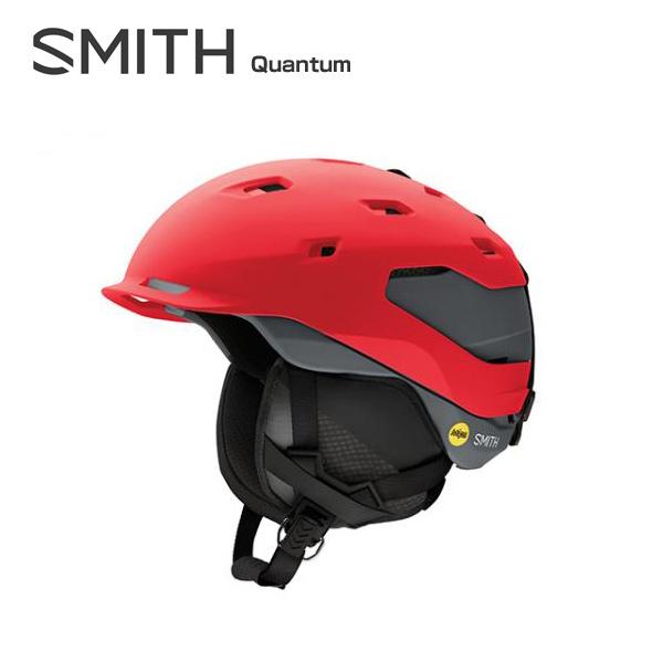 SMITH〔スミス スキーヘルメット〕<2018>Quantum Mips〔クウォンタム〕〔Matte Fire Charcoal〕【boa搭載】【送料無料】