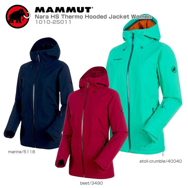 【スマホからエントリーでP10倍! 11/14 10時~11/21 9時59分】MAMMUT〔マムート スキーウェア ジャケット レディース〕<2019>Nara HS Thermo Hooded Jacket Women/1010-25011【送料無料】