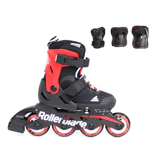 Rollerblade〔ローラーブレード ジュニアインラインスケート〕COMBO〔BLACK/RED〕【プロテクター付】【サイズ調整可能】