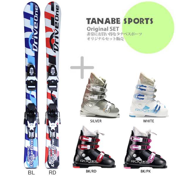 【スキー セット】Swallow Ski〔スワロー ジュニアスキー板〕<2018>DRIVE ONE + TEAM4 + GEN〔ゲン スキーブーツ〕ROOKIE