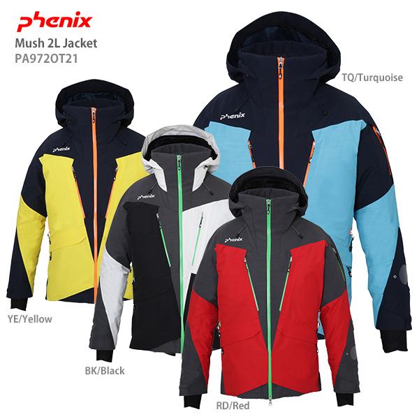2019-2020 旧モデル スキー ウエア スノーウェア スキー ウェア メンズ レディース スキー ウェア PHENIX フェニックス ジャケット 2020 Mush 2L Jacket PA972OT21 19-20 旧モデル