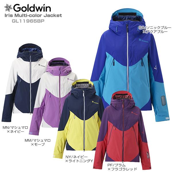 19-20 NEWモデル スキーウェア レディース ジャケット GOLDWIN ゴールドウィン 2020 Iris Multi-color Jacket GL11965BP 技術選着用モデル 送料無料