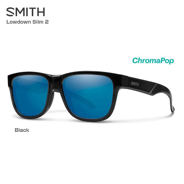 【4/1(月)0:00~23:59ポイント2倍!】SMITH〔スミス サングラス〕<2019>Lowdown Slim 2 Black/ChromaPop Polarized Blue Mirror【送料無料】