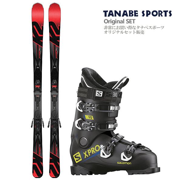 【スキー セット】K2〔ケーツー スキー板〕<2018>Konic 75〔コニック75〕 + M2 10 + SALOMON〔サロモン スキーブーツ〕<2019>X PRO 90