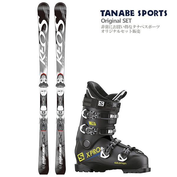 【スキー セット】OGASAKA〔オガサカ スキー板〕<2019>KEO'S〔ケオッズ〕KS-CX/SV + PR 11 MBS + SALOMON〔サロモン スキーブーツ〕<2019>X PRO 90