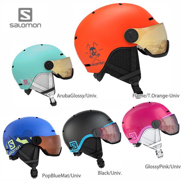 【19-20 NEWモデル】SALOMON〔サロモン ジュニア スキーヘルメット〕<2020>GROM VISOR 子供用