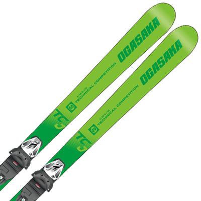 OGASAKA オガサカ ジュニアスキー板 2020 TC-JUNIOR ティーシージュニア TC-J + SLR 7.5 GW AC 金具付き・取付送料無料 19-20 NEWモデル