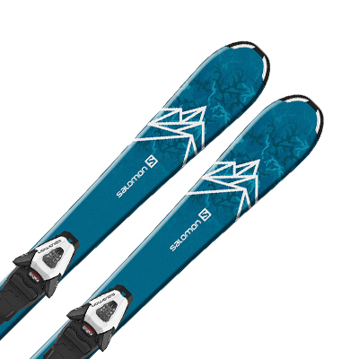 SALOMON〔サロモン ジュニア スキー板〕<2020>QST MAX JR S + C5 GW【金具付き・取付送料無料】