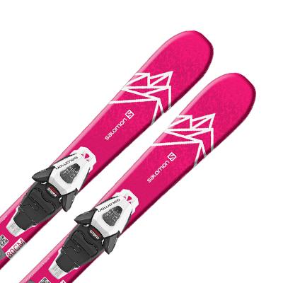 SALOMON〔サロモン ジュニア スキー板〕<2021>QST LUX JR XS + C5 GW ビンディング セット 取付無料〔SA〕