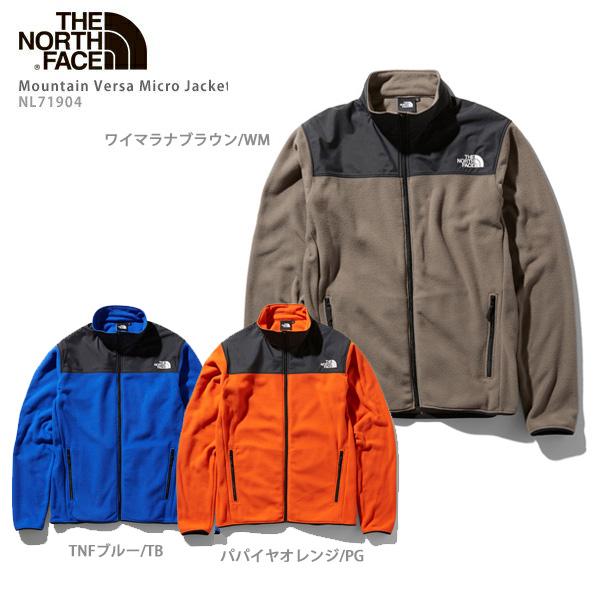 THE NORTH FACE〔ザ・ノースフェイス ミドルレイヤー フリース メンズ〕<2020> Mountain Versa Micro Jacket / NL71904 19-20