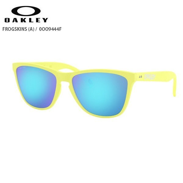 OAKLEY〔オークリー サングラス〕<2020>FROGSKINS AF / OO9444F Matte Neon Yellow / Prizm Sapphire【ASIAN FIT】