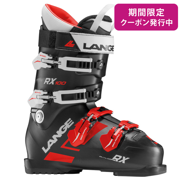 LANGE〔ラング スキーブーツ〕<2019>RX 100〔アールエックス100〕〔BLACK/RED〕【送料無料】旧モデル 型落ち メンズ レディース〔SA〕