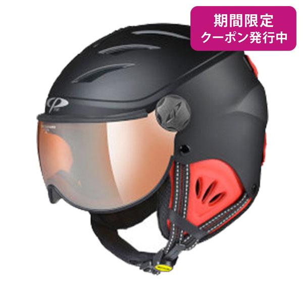 CP〔シーピー ジュニア スキーヘルメット〕<2019>CP CAMULINO BKR CPC1931〔ブラック/レッド〕 【送料無料】