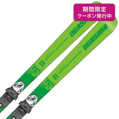 【19-20 NEWモデル】OGASAKA〔オガサカ ジュニアスキー板〕<2020>TC-JUNIOR〔ティーシージュニア〕TC-J + SLR 7.5 GW AC【金具付き・取付送料無料】