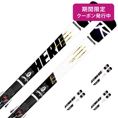 【19-20 NEWモデル】ROSSIGNOL〔ロシニョール スキー板〕<2020>HERO MASTER R22 + SPX 12 ROCKERRACE Black Icon【金具付き・取付送料無料】