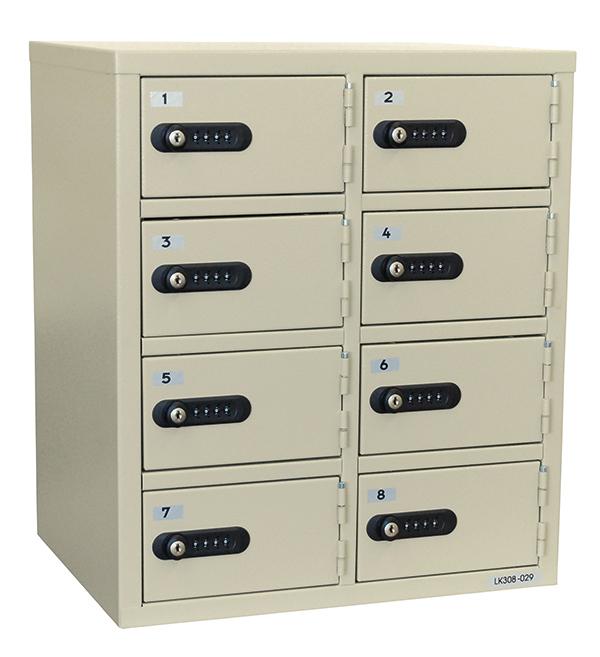 【代引不可】【メーカー直送】貴重品保管庫 ダイヤルナンバーロック 8BOX 2列4段8人用 LK-308 EIKO(エーコー)