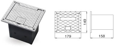 WZ-CB160(Panasonic) コネクター用ボックス(床埋め込み型) パナソニック:無線機の田中電気