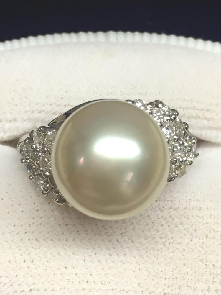 【伊勢志摩サミット記念】南洋真珠 11.8mm & ダイヤモンド 0.60ct Pt900 プラチナ リング【送料無料】#177 指輪 高級品 大特価 南洋パール 真珠 パール Pearl ダイヤ Diamond