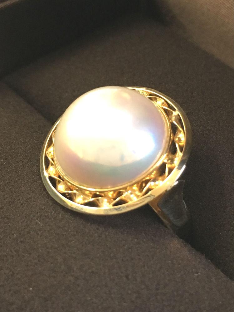 【送料無料】 K18 マベパール リング #255 指輪 真珠 パール Pearl マベ真珠