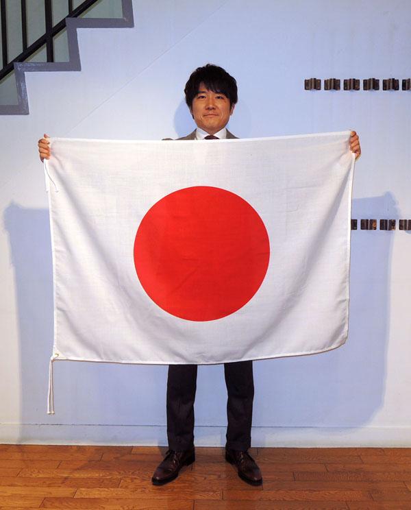 日本製 日の丸 (日本国旗) 90×120cm エクスラン生地(アクリル100%) 国旗 日本 屋外用