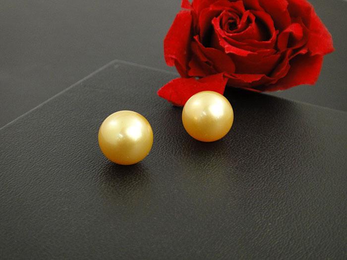 【南洋真珠】選べる 金色系 11.5mm upのイヤリング/ピアスK18 製【送料無料】【あす楽対応】【smtb-m】