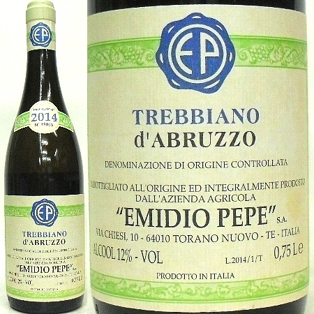 エミディオ・ペペ、2014 トレッビアーノ・ダブルッツオ 白 750ml