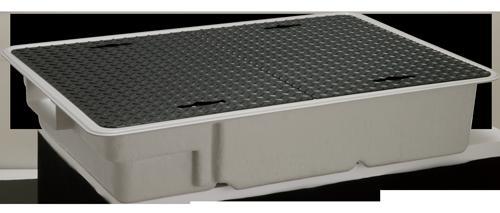 前澤 FRPグリストラップ 側溝 流入埋設超浅+SUS蓋T- 0耐無 : GT -XL 60 S + SUS蓋 無荷重 T- 0(受座無)(81759)∴∴ ステンレス
