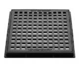 欲しいの ダイドレ 格子蓋 角枠付 重耐 鎖付:CD-H 600 (CA-SD)∴グレーチング 格子蓋, ライズアップ 5895ef65