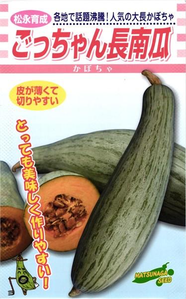 大長カボチャ 種 『ごっちゃん長南瓜』 500粒 松永種苗