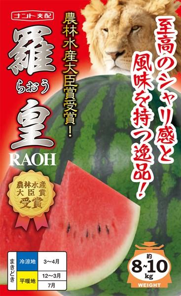 大玉スイカ 種 『羅皇』 200粒 ナント種苗