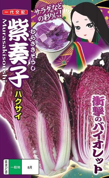 メール便 OK 祝日 白菜 たね 紫ハクサイ ブランド激安セール会場 種 コート40粒 小袋 むらさきそうし ナント種苗 紫奏子