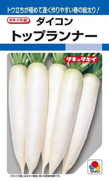春~夏どりダイコン 種 『トップランナー』 ペレット3L5000粒 タキイ種苗