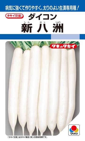 秋~冬どりダイコン 種 『新八洲』 2dl タキイ種苗