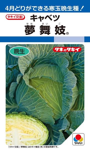 年内~冬どりキャベツ 種 『夢舞妓』 ペレットL5000粒 タキイ種苗