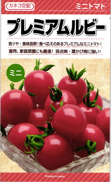 直売 家庭菜園にも最適 斑点病 葉かび病に強い トマト 店 プレミアムルビー 1000粒 カネコ種苗 格安店